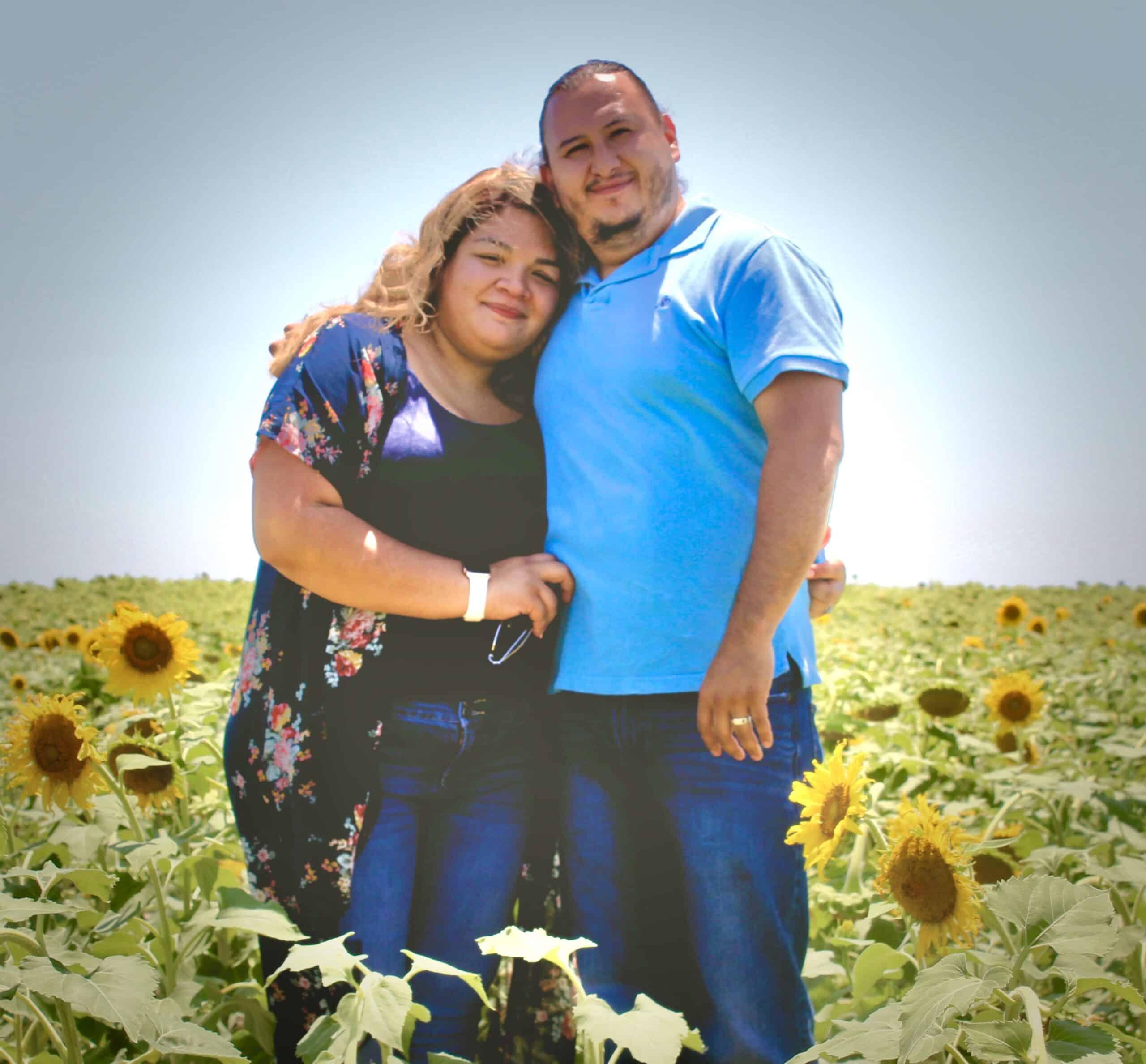 Adoptive parents Brad and Rachel